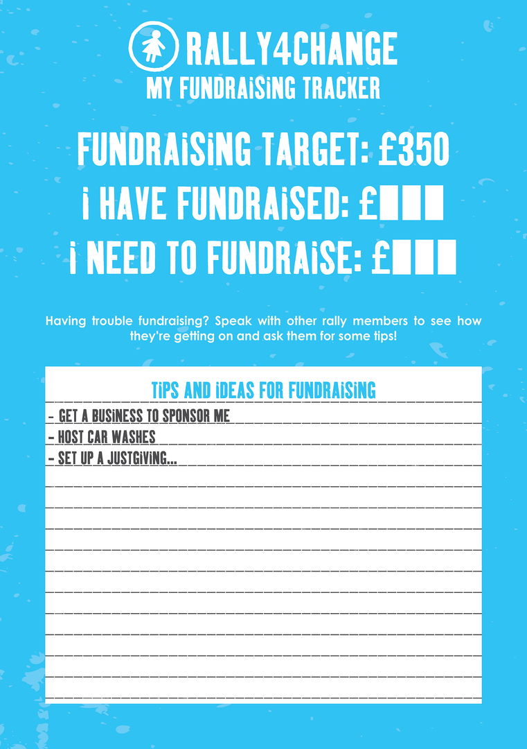 Rally4Change Fundraising Tracker