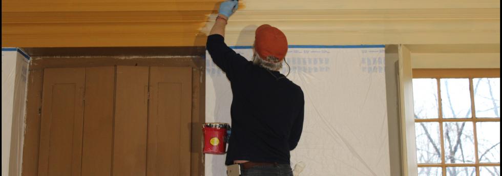 Chris Mills Painting the Cornice