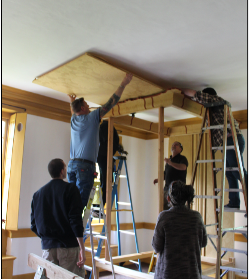 Sliding the Bed Ceiling into the Cornice