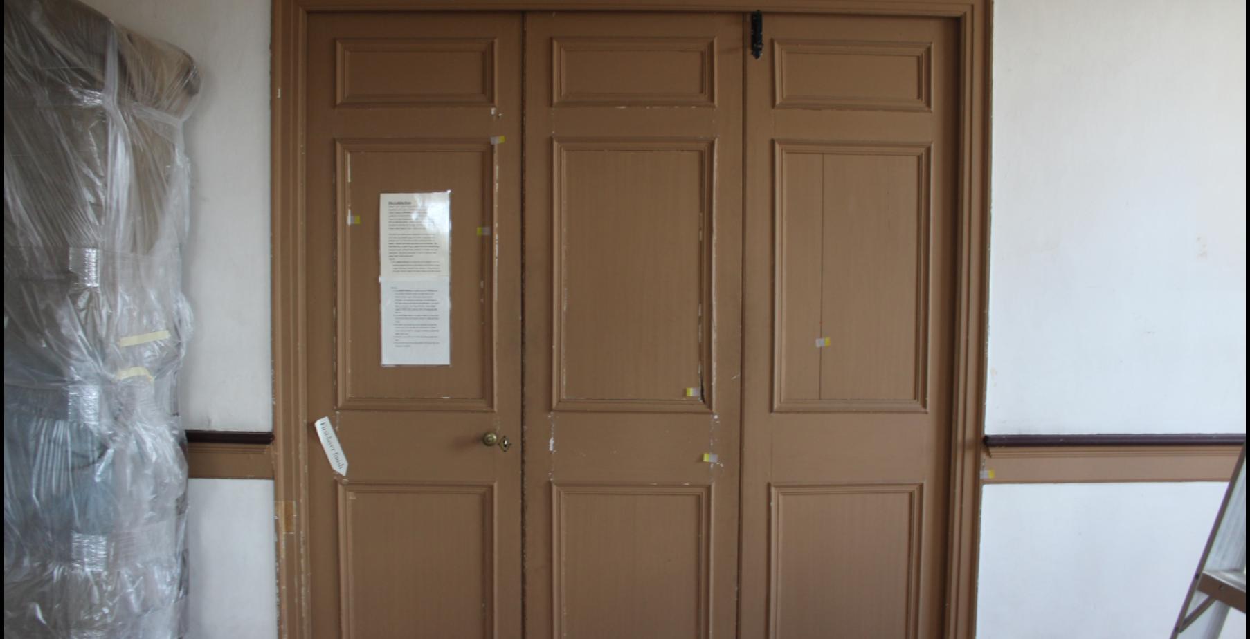 The Tri-partite Door prior to Treatment