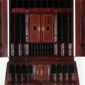 1730 Mahogany Desk-and-Bookcase