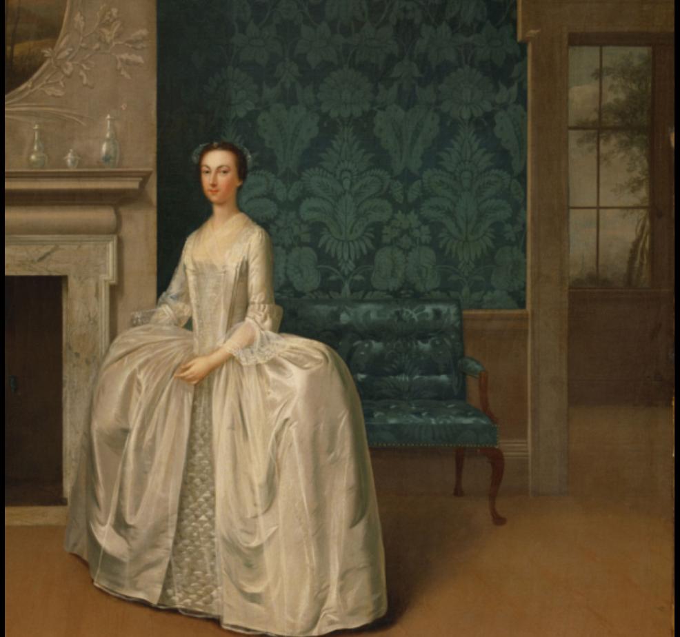 Arthur Devis' 1751 portrait of Lady Juliana Penn, Philadelphia Museum of Art