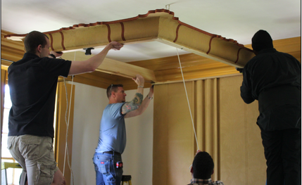 Attaching the Cornice