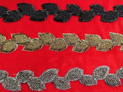 Product #Ne08 | Hand Embroidered cut-work leaf trail design