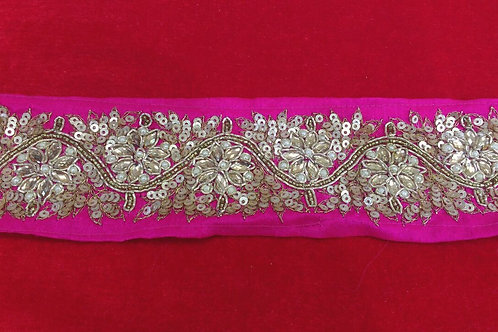 Product #B51 | HandMade Dense Sequins and KundanWork Border & Bead Wave Trails