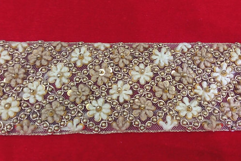 Product #B54 | Handmade Exclusive Broad Border with FrenchKnotting