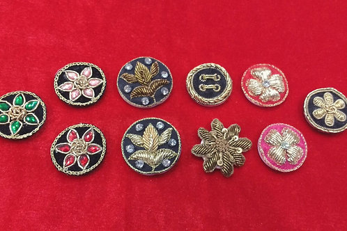 Product #708 | Zardozi-Work Buttons All Unique Designs and Elegant Colours