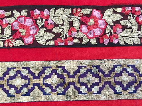 Product #Ne25 | Machine Embroidered Cross Stitched Border