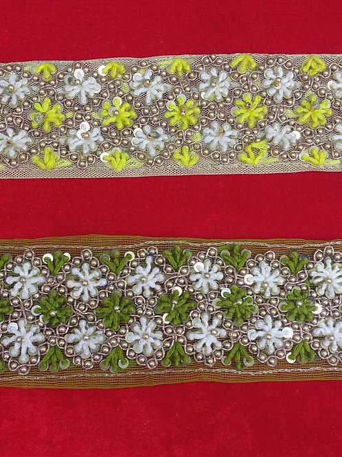 Product #B53 | Handmade Exclusive Medium-Width Borders with FrenchKnotting