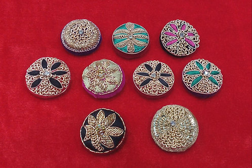 Product #743 | Zardozi-Work Buttons Various Mixed Designs