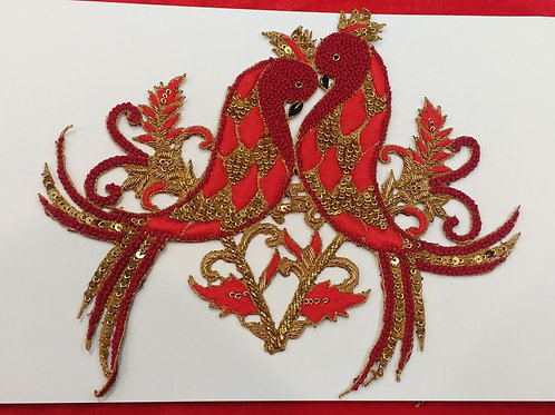 Product #562 | Zardozi-Work Patch Special Bird-Coup Design