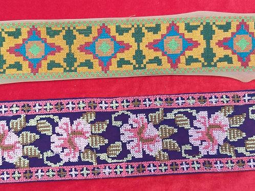Product #Ne29 | Machine Embroidered Cross stitched border