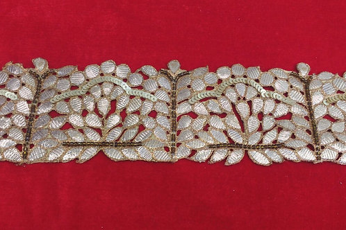 Product #B12 | Handmade Exclusive GotaWork Border with Sequins & CutBeads Trails