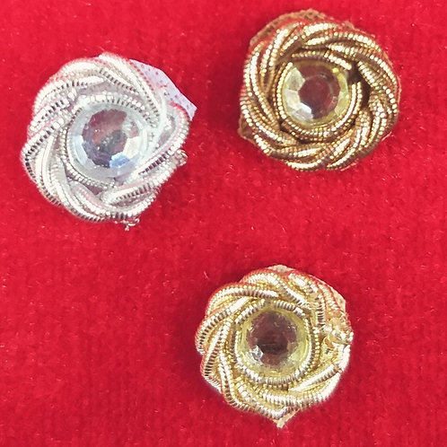 Product #Ne83 | Hand Embroidered Zardozi and Crystal Stud Applique