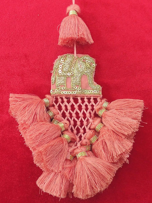 Product #T69 | Tassel with Embroidery Elephant, JaaliWork & Dense ThreadDanglers