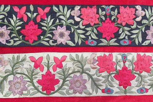 Product #Ne61 | Machine Embroidered Parsi Gara Border