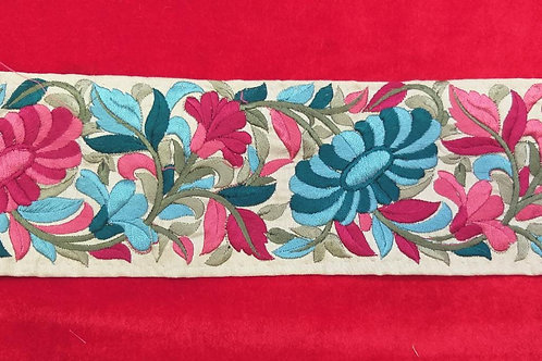Product #Ne66 | Machine Embroidered Parsi Gara Border