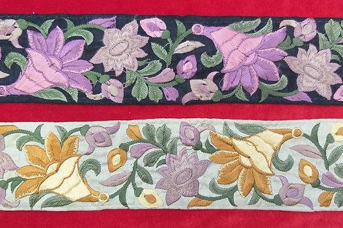 Product #Ne63   Machine Embroidered Parsi Gara Borders