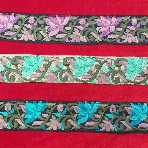 Product #Ne50 | Machine Embroidered Parsi Gara Border