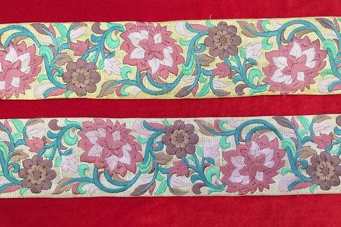 Product #Ne67 | Machine Embroidered Parsi Gara Border