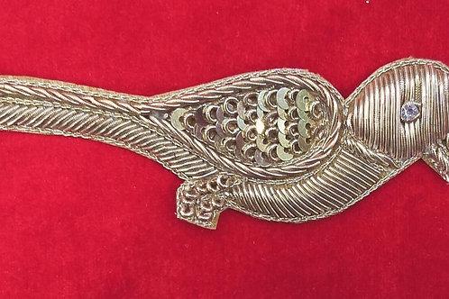 Product #Ne76 | Hand Embroidered Zardozi Work Bird Applique