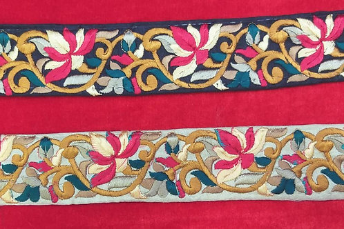 Product #Ne51   Machine Embroidered Parsi Gara Border