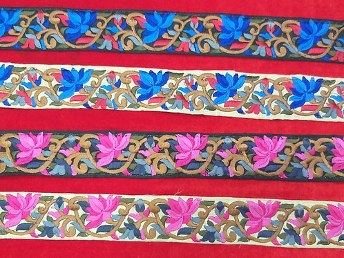 Product #Ne46 | Machine Embroidered Parsi Gara Borders
