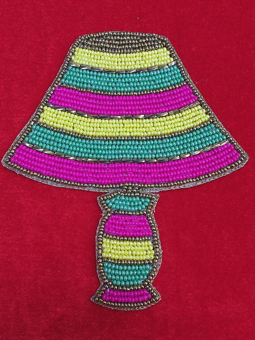 Product #P09 | BeadWork Patch HandMade Multicolor Vintage TableLamp Design