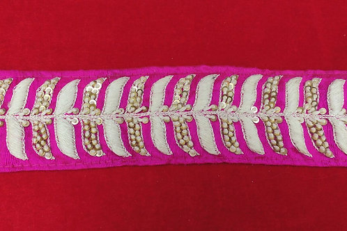 Product #B29   Handmade Border with FrenchKnotting & Fine ThreadWork Trails