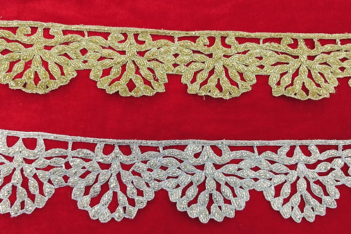 Product #Ne20 | Hand Embroidered Broad Cut-work Scallop Border