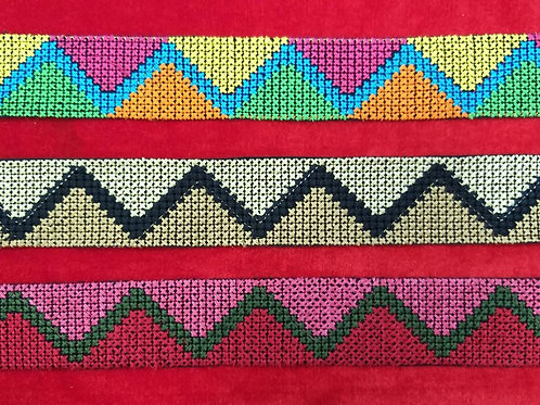 Product #Ne35 | Machine Embroidered Cross Stitch Border