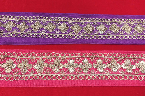 Product #630 | Handmade Exclusive Fine MarodiWork Borders with Sequins Trails