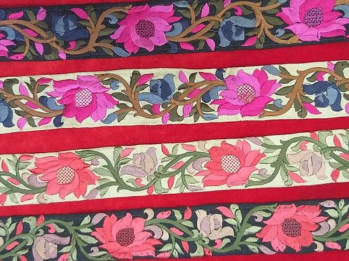 Product #Ne52 | Machine Embroidered Parsi Gara Border