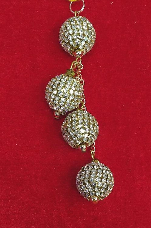 Product #T41 | Tassel Long Size with Crystal Stone Balls