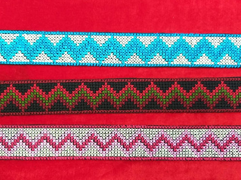 Product #Ne33 | Machine Embroidered Cross Stitch Border