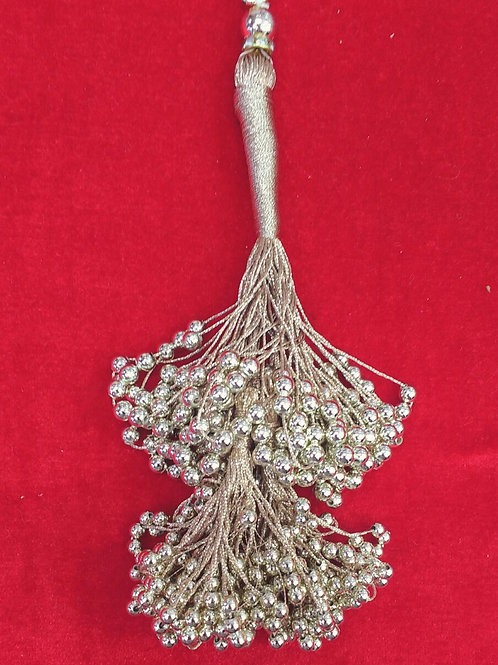 Product #T51 | Tassel Long Size with Two-Layered Beads Bunch