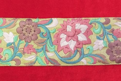 Product #Ne68 | Machine Embroidered Parsi Gara Border