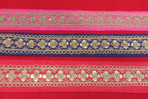 Product #631 | Handmade Exclusive Fine MarodiWork Borders with Sequins Trails