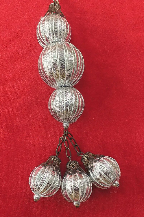Product #T65 | Tassel with GotaWork Balls 3-layer and Danglers