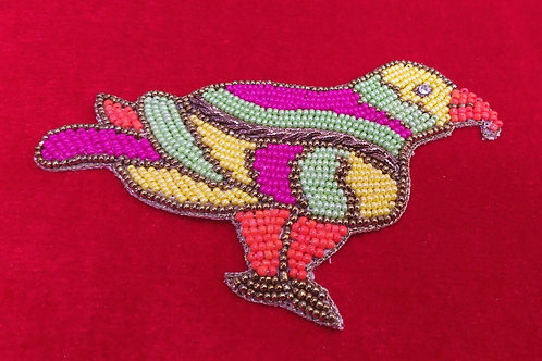 Product #P20 | BeadWork Patch HandMade Multicolor American Eagle Design