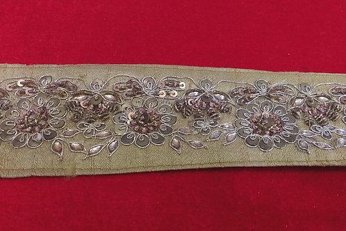 Product #B90 | Hand-Embroidered Border with Sequins, Kundan and ZardoziWork