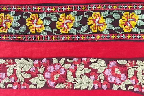 Product #Ne30 | Machine Embroidered Cross Stitch Borders