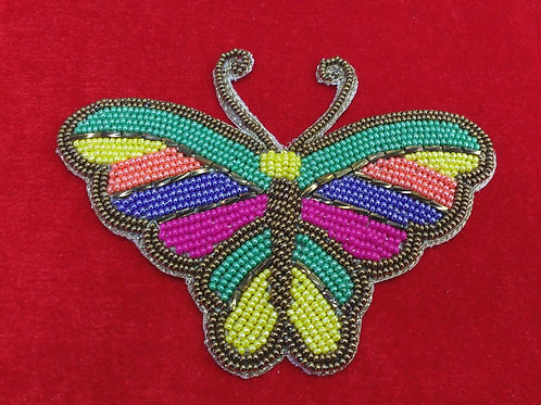 Product #P07 | BeadWork Patch HandMade Multicolor Butterfly Design