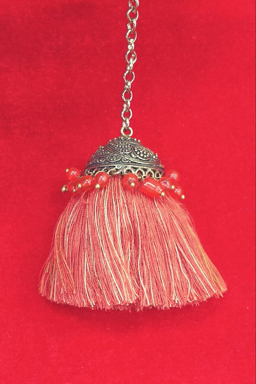 Product #T60 | Tassel with Metal Jhumki and Dense Thread Drops