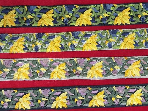 Product #Ne48   Machine Embroidered Parsi Gara Border