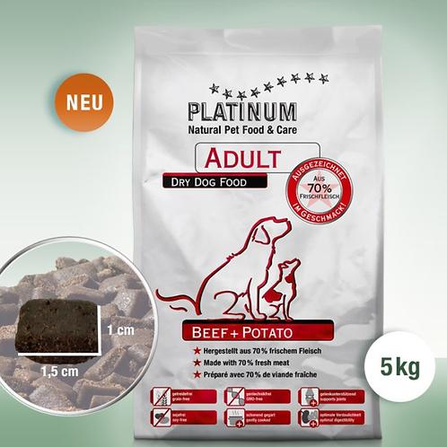 PLATINUM ADULT BEEF+POTATO IN 5KG BEUTELN
