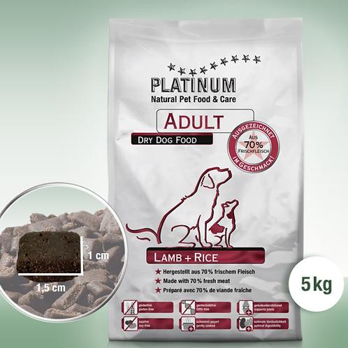 PLATINUM ADULT LAMB+RICE IN 5KG BEUTELN
