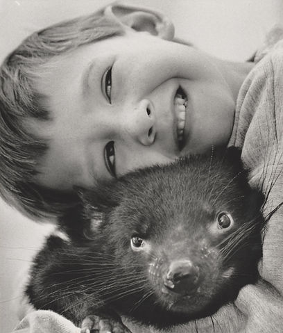 George Wright the Animal Communicator with Tasmanian Devil