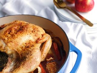 Fennel & Apple Roasted Chicken
