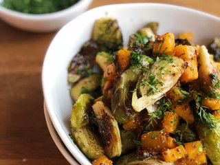 Maple Dijon Holiday Roasted Veggies